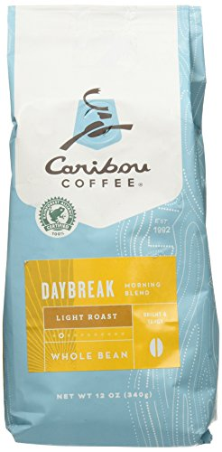 Caribou Coffee Daybreak Whole Bean Coffee Belabour Roast 12oz Bag