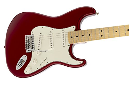 fender standard stratocaster electric guitar maple fingerboard candy apple red buy online. Black Bedroom Furniture Sets. Home Design Ideas