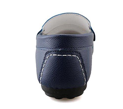 Beauqueen Cueros de los hombres Mocasines prácticos huecos transpirables suaves suelas antideslizantes Slip-ON zapatos casuales UE tamaño 38-44 White