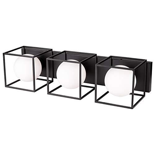 NALATI 3-Light Sconce Bath Vanity Lights Fixture with Clear Glass Shade Polished Chrome Frame,Wall Mount Bathroom…