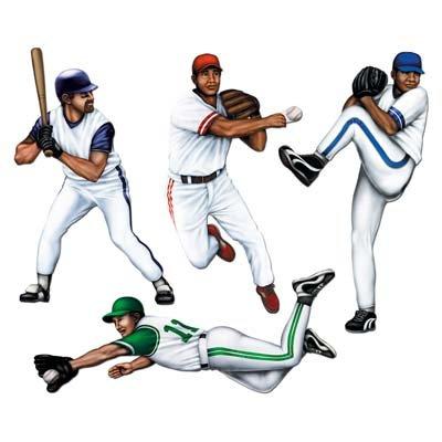 Baseball Player Halloween (Baseball Player Cutouts-4 Per)