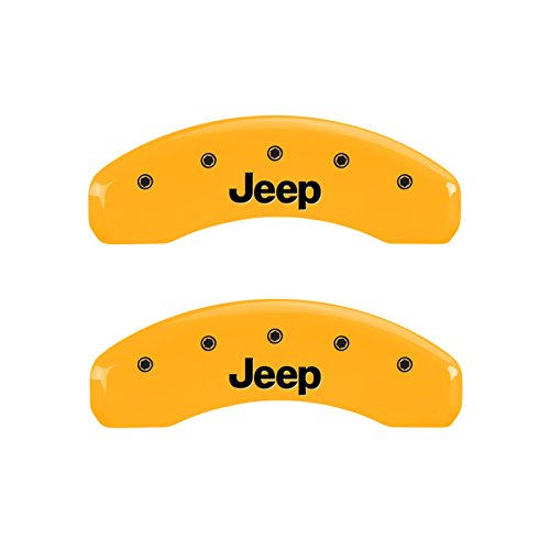 42007SJEPYL black characters Yellow powder coat finish Engraved Front and Rear: JEEP MGP Caliper Covers Set of 4 caliper covers .