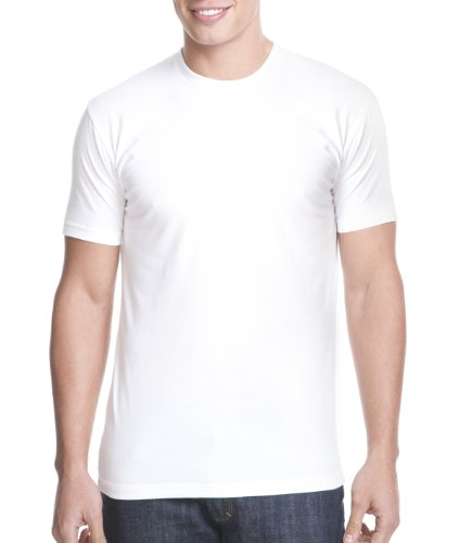 Next Level Mens Premium Fitted CVC Crew Tee (N6210) -WHITE -M