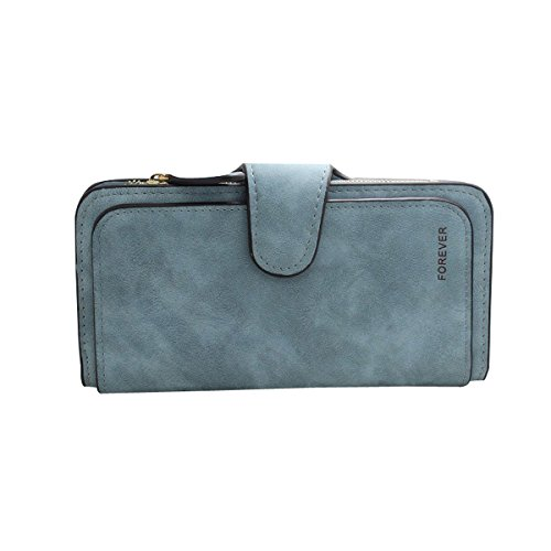 Pocket Phone HeySun Fashion Purse Capacity Ladies card Multi Large Pale Blue Long Wallet with Clutch 7qw7rPxZ
