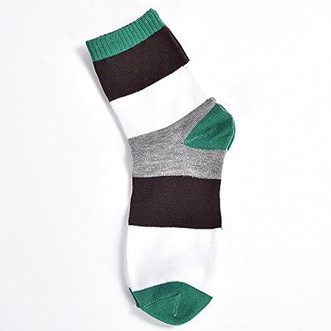 Liuxc Calcetines Calcetines de Hombre Calcetines Finos de algodón y Calcetines para Hombres. Rayas Verdes
