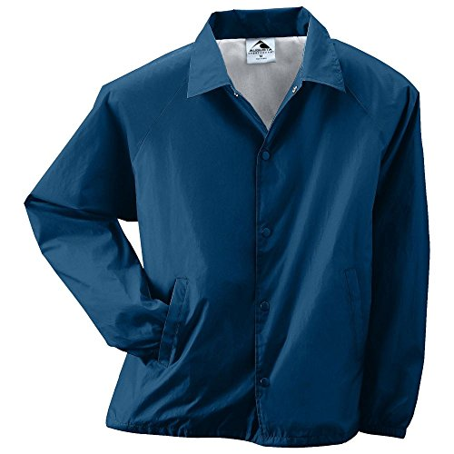 - Augusta Activewear Nylon Coach's Jacket/Lined, Navy, Large
