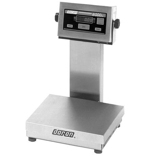 Square Base Bench Scale (Bench Floor Scale DORAN 8002XL Stainless Steel 2 x 0.0005 lb)
