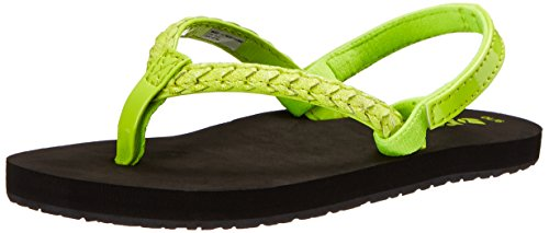Reef Little Twisted Stars Brights Sandal (Infant/Toddler/Little Kid/Big Kid), Neon Yellow, 3/4 M US Infant