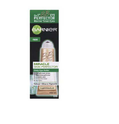 Garnier Skin BB Eye Miracle Skin Perfector Eye Roller - Light/Medium . (Pack of 3)