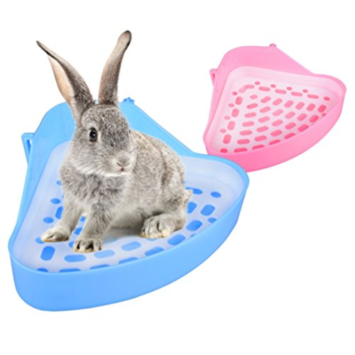 Plastic Pet Toilet, Small Animal Litter Tray Corner for Hamster Pig Rabbit Pee - Tray Bunny