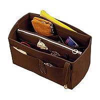 [Fits Neverfull MM/Speedy 30, Dark Brown] Felt Organizer (with Detachable Middle Zipper Bag), Bag in Bag, Wool Purse Insert, Customized Tote Organize, Cosmetic Makeup Diaper Handbag