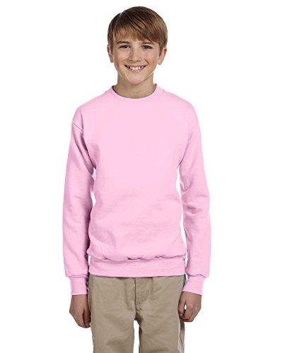 Hanes Youth ComfortBlend EcoSmart Crewneck Sweatshirt, Pale Pink, M