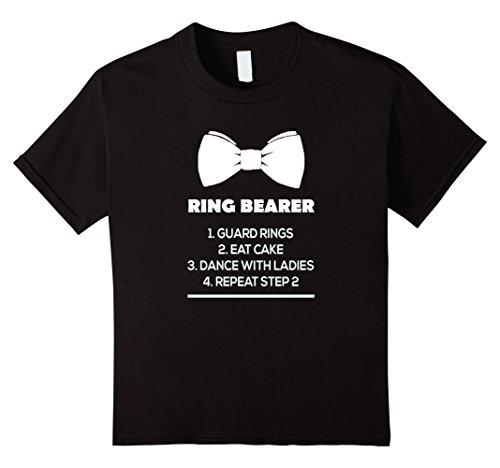 Kids Ring Bearer Bowtie Shirt - Funny Ring Bearer Shirt 4 Black -