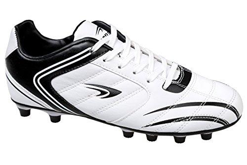 gibra - Botas de fútbol de Material Sintético para hombre Blanco - blanco/negro