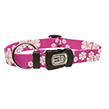 Dogit Style Aloha Small Adjustable Nylon Collar with Plastic Snap, 3/8-Inch by 10-Inch- 16-Inch, Purple