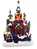 Christmas Village Church Scene | Animated