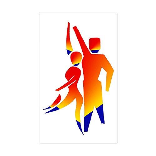 CafePress Latin Dancers #1 Rectangle Sticker Rectangle Bumper Sticker Car - Photo Dancesport