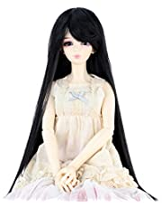 Synthetic Long Straight 8-9 Inch 1/3 BJD MSD DOD Pullip Dollfie Doll Wig Hair Accessories Not for Human