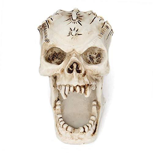 (Womdee Skull Pen Holder for Desk Funny Halloween Skeleton Candy Bowl Makeup Brushes Organizer and)