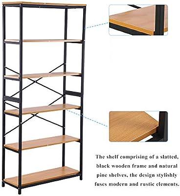 Estantería de 5 estantes, estantería/estantería/expositor/estantería/ estanterías altas, estantería de almacenamiento para libros, 80 x 30 x 180 cm: Amazon.es: Bricolaje y herramientas