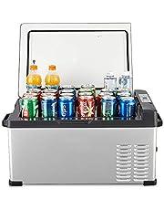 Compressor Car Refrigerator, 25L Car Dual-Use Dormitory Office Mini Refrigerator Refrigerated Outdoor Anti-Shock Freezing Refrigerator