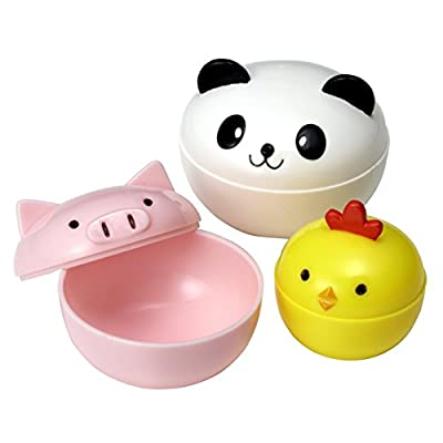 CuteZCute Mayo Cups for Bento Box Lunch, Mini, Panda, Chick and Pig: Kitchen & Dining