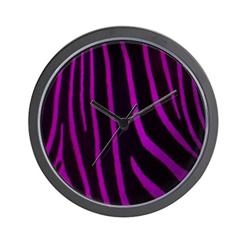 Cheap CafePress – Purple Zebra Print Wall Clock – Unique Decorative 10″ Wall Clock