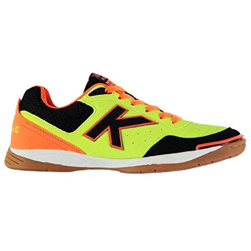 Kelme Hombre K Strong Interior Corte Zapatillas Zapatos Tobillo Acolchado Lima/Naranja/Negro