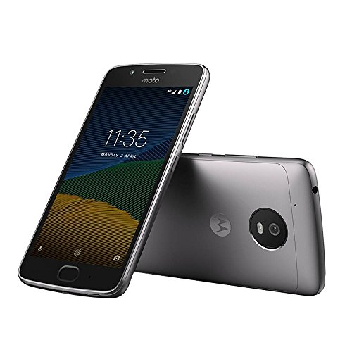 Moto G (5th Gen) G5 4G LTE Dual Sim XT1671 32GB Finger Print Reader Octa Core 2Gb Ram International Version Desbloqueado (Lunar Grey)
