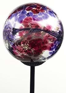 Kitras Webbed Glass Solar Light Glass Ornament, Multi/Pink