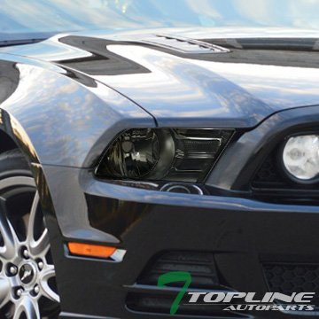 Topline Autopart Factory Style Smoke Crystal Head Lights Lamp Nb 10-14 Ford Mustang Halogen Model