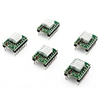 CREOZONE A4988 Compatible Stepper StepStick Motor Diver Module with Heat Sink for 3D Printer (Pack of 5pcs) by CREOZONE