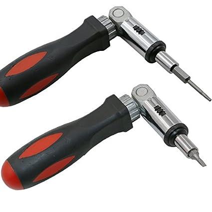 Destornillador multifunción de ángulo de carraca 0 – 180 grados girar izquierda y derecha 1/4 pulgadas Hex Socket