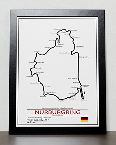 Nurburgring Grand Prix Track Poster - Formula One for sale  Delivered anywhere in USA