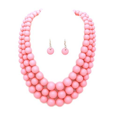 Fashion 21 Women's Multi-Strand Acrylic Ball Bead Statement 18