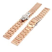 XIEMIN16mm Stainless Steel Metal Watch Band for Moto360 2nd Generation Smart Watch