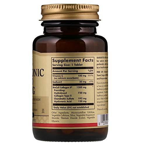 Solgar Hyaluronic Acid 120 Milligram, 30 Tablets (2 Packs)