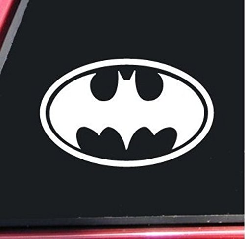 [Batman Bat Signal Vinyl Decal Sticker|Cars Trucks Vans Walls Laptop| WHITE| 5 X 3 In Decal| CCI277] (Easy Bane Costumes)