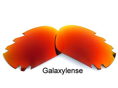 10586edfcf Galaxy Replacement Lenses for Oakley Racing Jacket Fire Red Color Polarized