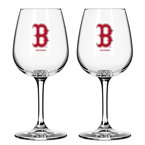 MLB Boston Red Sox Game Day Wine Glass, 12-ounce, 2-Pack