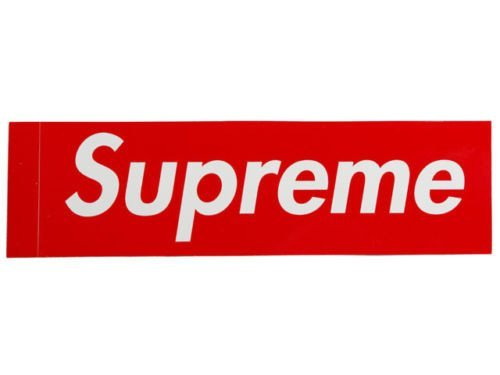 supreme store red box logo clothing sticker nyc store streetwear