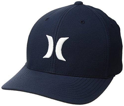 Hurley Men's Dri-Fit One & Only Flexfit Baseball Cap, Obsidian//White, L-XL