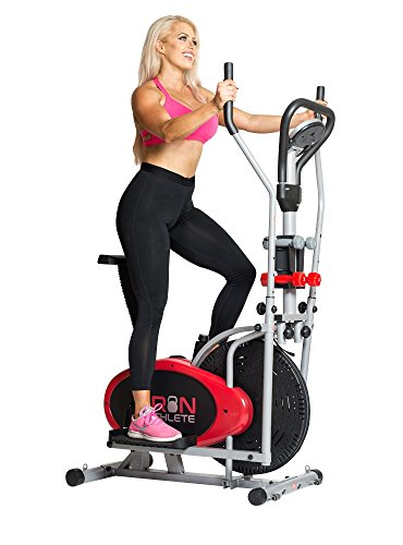 Iron athlete elliptical in cross trainer exercise bike home