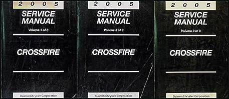 2005 chrysler crossfire repair shop manual set original chrysler rh amazon com 2005 Chrysler Crossfire Interior 2005 chrysler crossfire service manual pdf