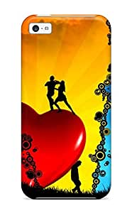 Hot Red Heart And Moon And Three Couples First Grade Tpu Phone Case For Iphone 5c Case Cover