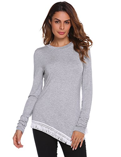 076e8784b8 SoTeer Womens Striped Shirt 3 4 Sleeve Casual Scoop Neck Tops Tee ...