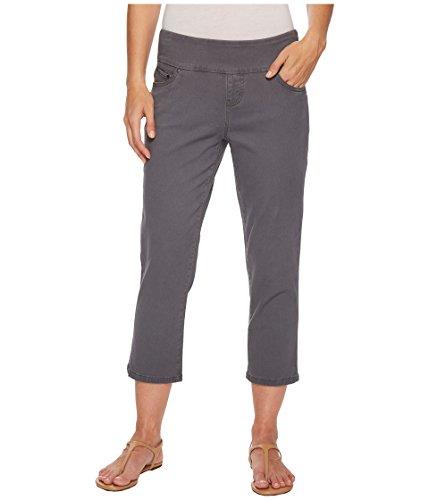 Jag Jeans Womens Peri Straight Pull-On Twill Crop Grey Streak 4 24 ()