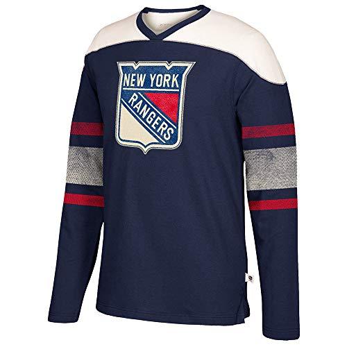adidas NHL New York Rangers Mens CCM L/S Applique Crewccm L/S Applique Crew, Navy, Large