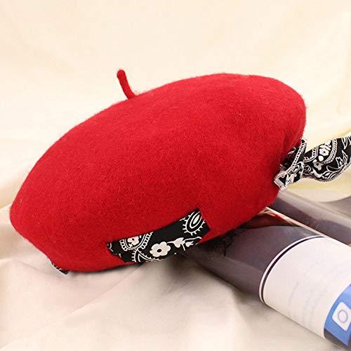 - LooBooShop Winter Women's Woollen Bowknot Design Fashionable Beret Pure Color Leisure caps Hats