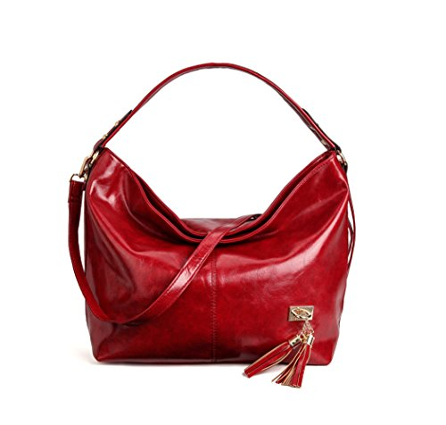 Red Women Designer Large Collection Hobo Bag Handbags Capacity Kamierfa Bags For Shoulder Wine Xxq7BX4w